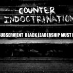 Indoctrination Continues To Produce Subservient Black Leadership